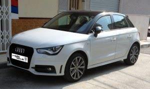 Parte frontal lateral del nuevo Audi A1 Sportback 2014