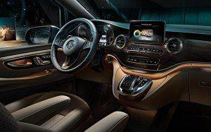 Interior de la nueva Mercedes Clase V