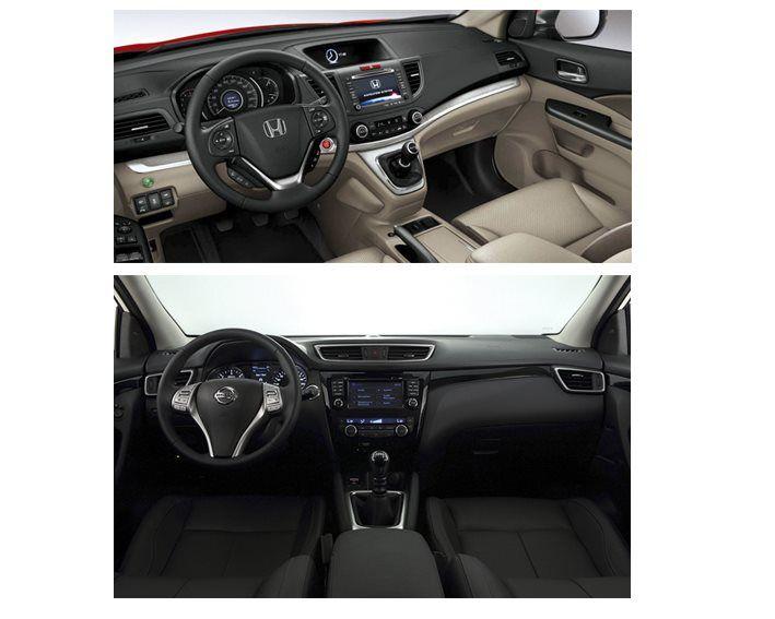 Salpicadero Honda CR-V vs Nissan Qashqai