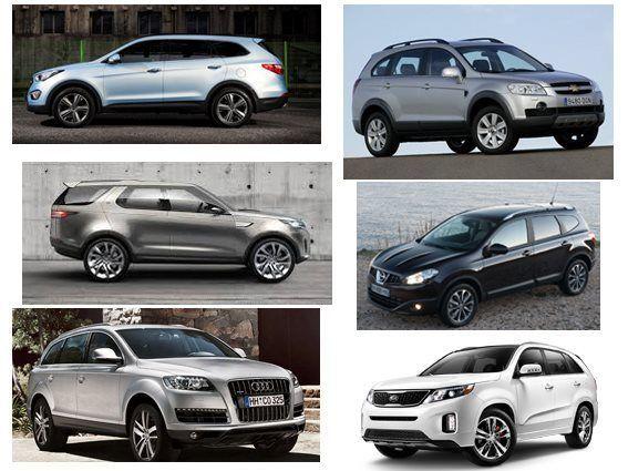 Los SUV 7 plazas más vendidos
