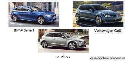 BMW Serie 1, Audi A3 o Volkswagen Golf