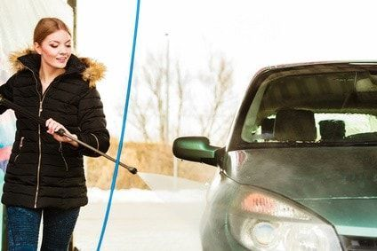 Lavando el coche a presión