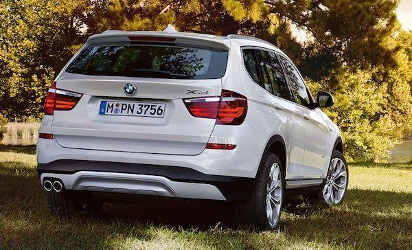 BMW X3 vista trasera